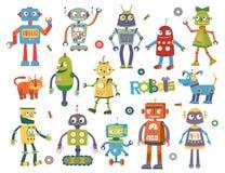 Insieme dei robot di vettore Immagine Stock
