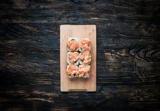 Insieme dei rulli di sushi Fotografia Stock Libera da Diritti