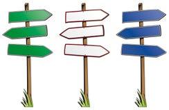 Insieme dei segnali di direzione isolati Immagine Stock Libera da Diritti