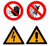 Insieme dei segnali di pericolo Fotografia Stock Libera da Diritti