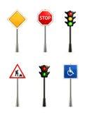 Insieme dei segnali stradali Fotografia Stock