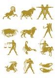 Insieme dei segni dello zodiaco Immagine Stock Libera da Diritti