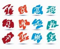 Insieme dei segni dello zodiaco Immagine Stock