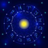 Insieme dei segni dello zodiaco Immagini Stock