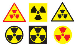 Insieme dei segni di radiazione Fotografia Stock Libera da Diritti