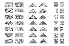 Insieme dei segni tribali di vettore, simboli, icone Elementi disegnati a mano royalty illustrazione gratis