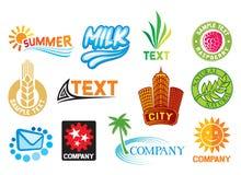 Insieme dei simboli corporativi Fotografie Stock Libere da Diritti