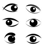 Insieme dei simboli degli occhi Immagine Stock