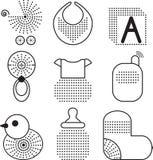 Insieme dei simboli del bambino Fotografia Stock