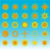 Insieme dei simboli del sole Immagine Stock Libera da Diritti