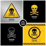 Insieme dei simboli del veleno Fotografia Stock Libera da Diritti