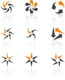 Insieme dei simboli dell'azienda. Fotografie Stock
