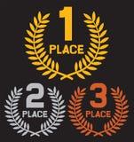 Primo posto, secondo posto e terzo posto Fotografia Stock Libera da Diritti