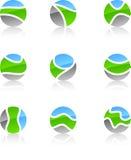 Insieme dei simboli della natura. Immagine Stock