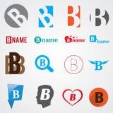 Insieme dei simboli di alfabeto della lettera B Fotografia Stock Libera da Diritti
