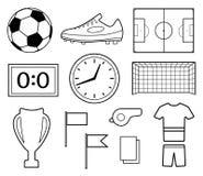 Insieme dei simboli di calcio illustrazione di stock