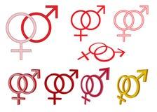 Insieme dei simboli di genere Fotografia Stock Libera da Diritti