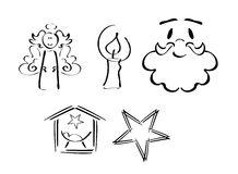 Insieme dei simboli di natale royalty illustrazione gratis