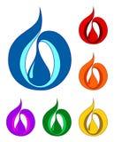 Insieme dei simboli di una goccia. EPS-10. illustrazione di vettore illustrazione di stock