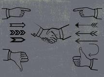 Insieme dei simboli e dei segni illustrazione vettoriale