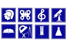 Insieme dei simboli educativi Fotografia Stock