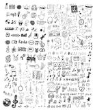 Insieme dei simboli musicali Fotografia Stock