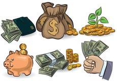Insieme dei soldi Immagine Stock