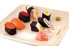 Insieme dei sushi Immagini Stock