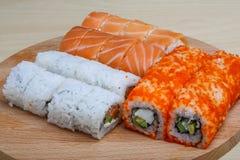 Insieme dei sushi del Giappone Fotografia Stock