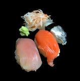 Insieme dei sushi del sashimi immagini stock libere da diritti