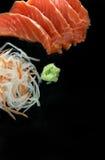 Insieme dei sushi del sashimi fotografia stock