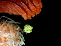 Insieme dei sushi del sashimi fotografia stock libera da diritti