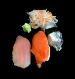 Insieme dei sushi del sashimi fotografie stock libere da diritti