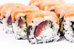 Insieme dei sushi della parte. Maki di Osaka. Fotografie Stock