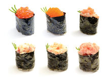 Insieme dei sushi di Nigiri Fotografia Stock Libera da Diritti