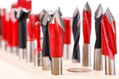 Insieme dei taglienti differenti per legno Fotografie Stock