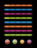 Insieme dei tasti colorati Immagini Stock