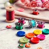 Insieme dei tasti colorati Fotografie Stock Libere da Diritti