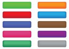 Insieme dei tasti colorati di Web Immagini Stock