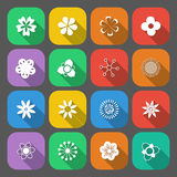Insieme dei tasti floreali Fotografie Stock