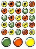 Insieme dei tasti lucidi per il Web Fotografia Stock