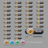 Insieme dei tasti per i aplications di Web Fotografia Stock Libera da Diritti