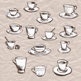 Insieme dei tazza da the illustrazione di stock