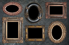 Insieme dei telai antichi Fotografia Stock