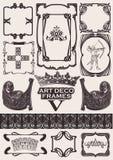 Insieme dei telai antichi nello stile di Arte-Deco Immagine Stock Libera da Diritti