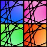 Insieme dei telai astratti del nero della rete Fotografia Stock Libera da Diritti