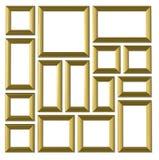 Insieme dei telai dell'oro Immagine Stock Libera da Diritti
