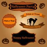 Insieme dei telai di Halloween e degli elementi decorativi Illustrazione di Stock