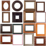 Insieme dei telai di legno Fotografie Stock Libere da Diritti