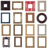 Insieme dei telai di legno Fotografia Stock Libera da Diritti